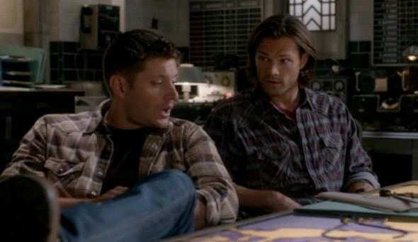 Sam and Dean in the bunker